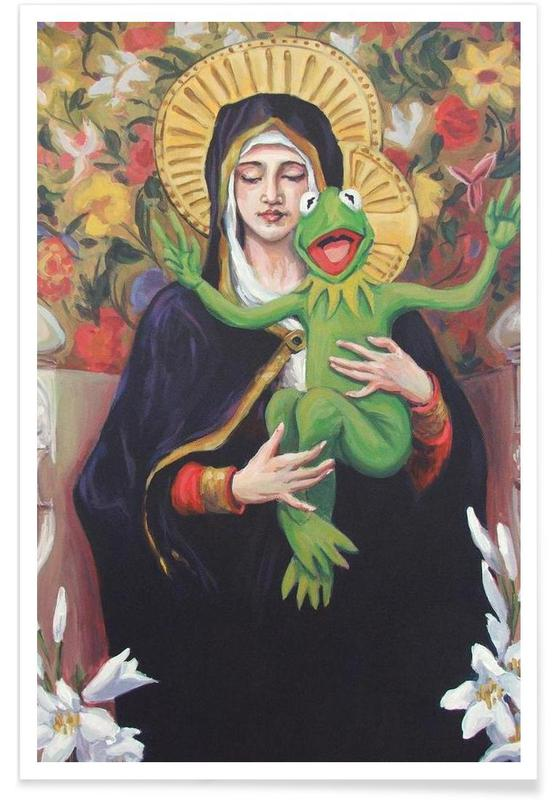 Virgin Of The Lily Pad -Poster
