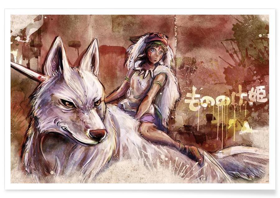 Mononoke the Wolf Girl Poster