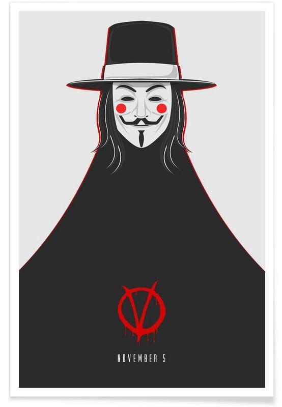 V for Vendetta Minimal November 5 poster