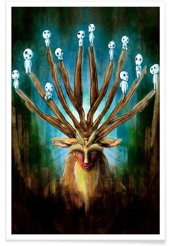 Deer God the Shishigami Poster