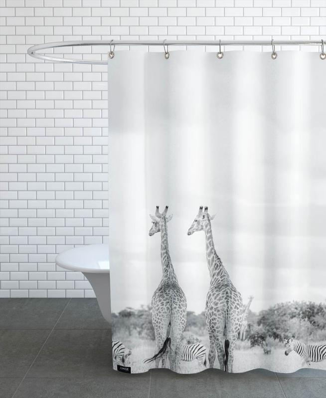 Giraph couple Shower Curtain