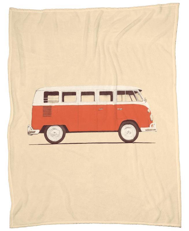 Red Van Fleece Blanket