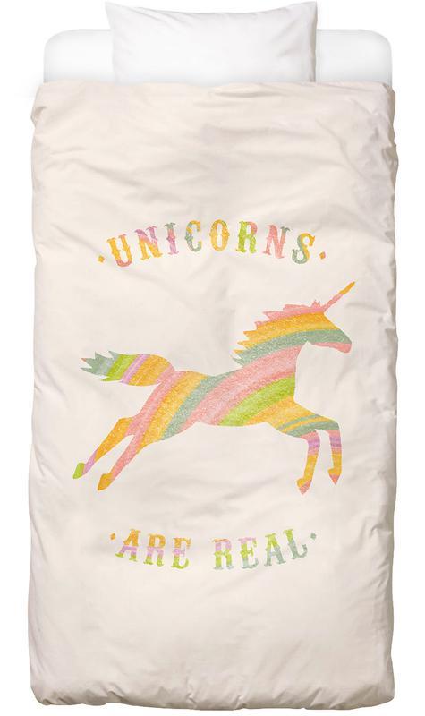 Unicorns Are Real II -Kinderbettwäsche