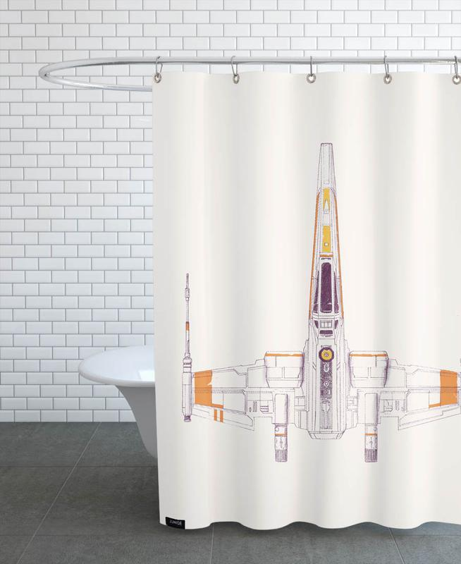 X Wing Shower Curtain