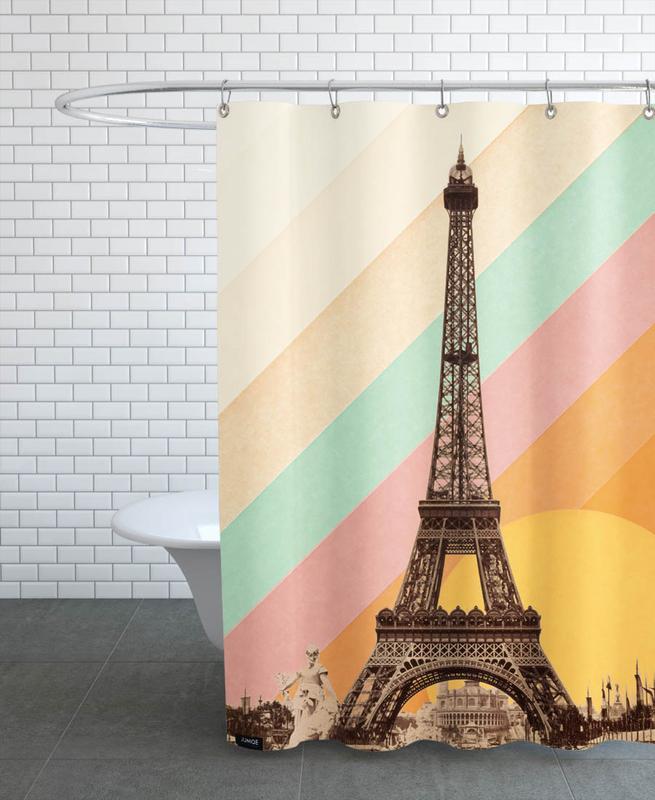 Eiffel Tower Rainbow -Duschvorhang