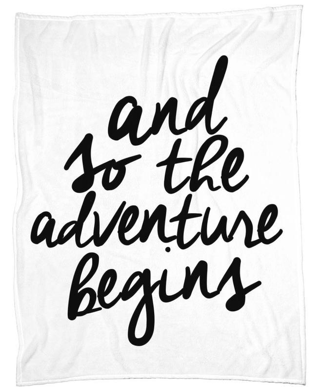 Adventure Begins -Fleecedecke