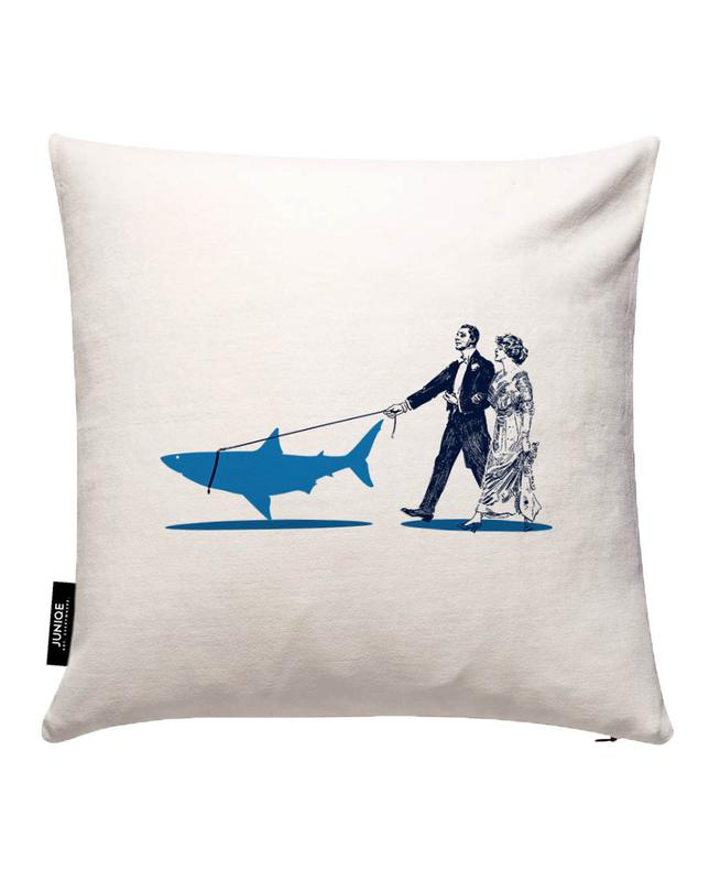 Walking The Shark Cushion Cover