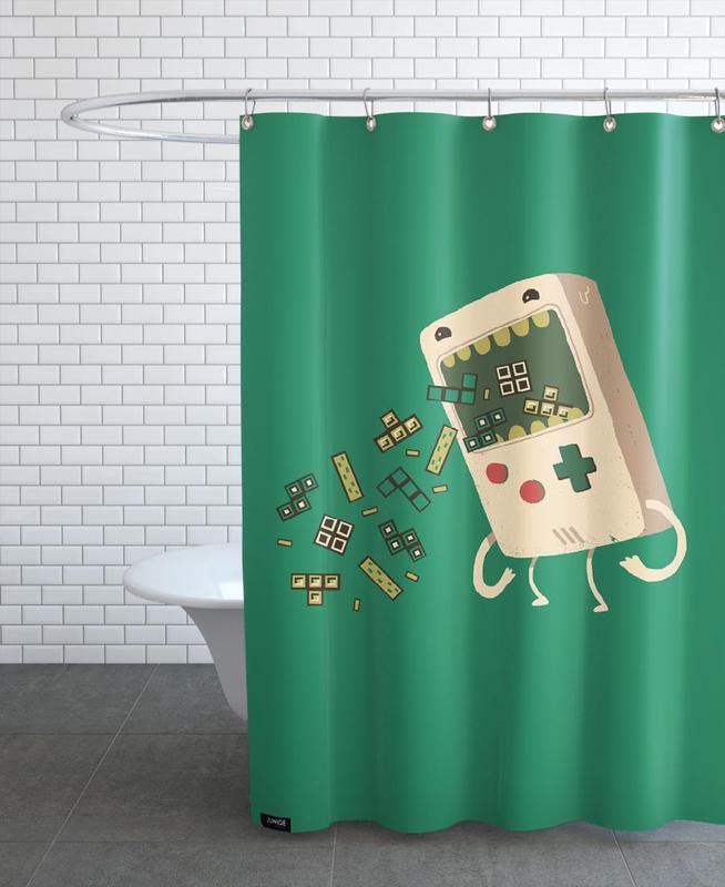 Pixel Puke Shower Curtain