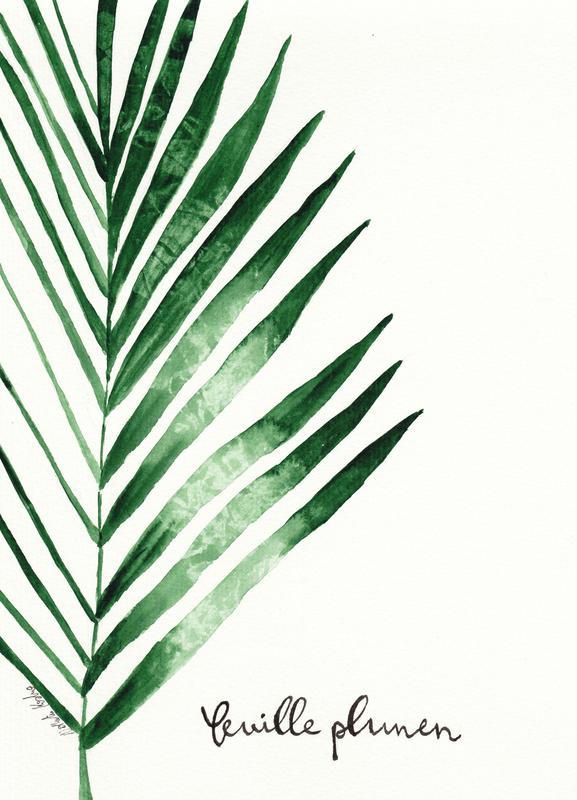 Feuille Palmen -Leinwandbild