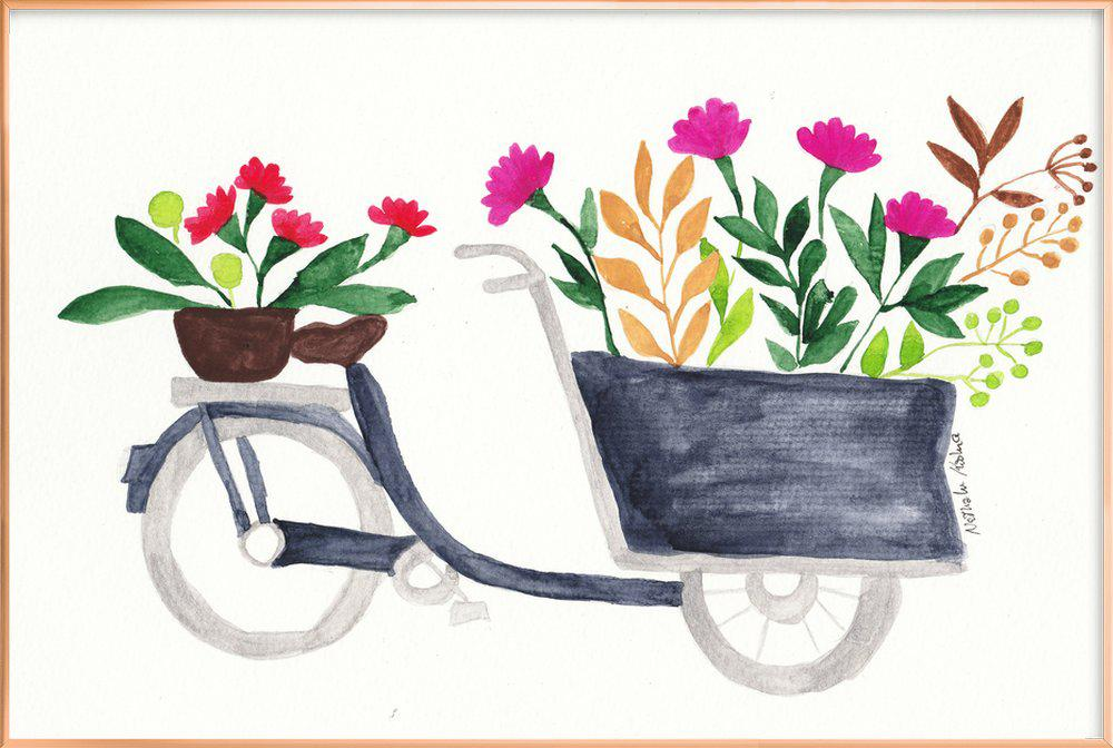 Flowers Delivery Poster in Aluminium Frame
