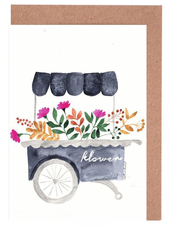 Flowers Market -Grußkarten-Set