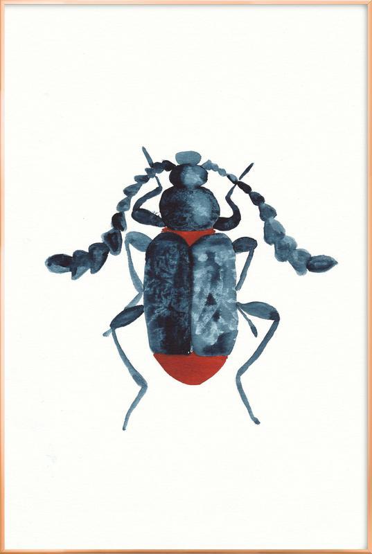 Blue Beetle poster in aluminium lijst