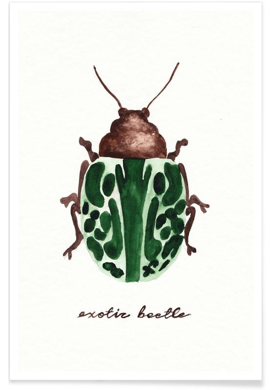 Exotic Beetle Poster
