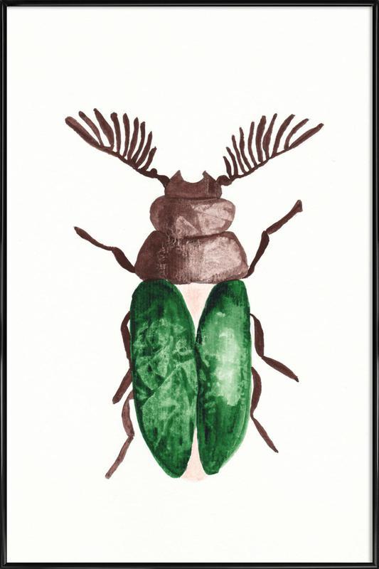 Greeny Beetle Framed Poster