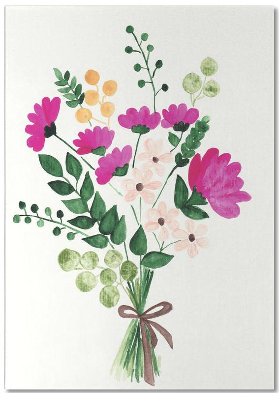 Bouquet -Notizblock