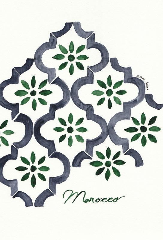 Morocco -Acrylglasbild