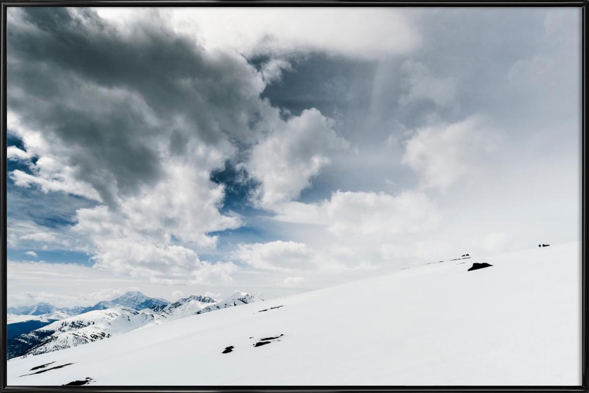 The White Open -Bild mit Kunststoffrahmen