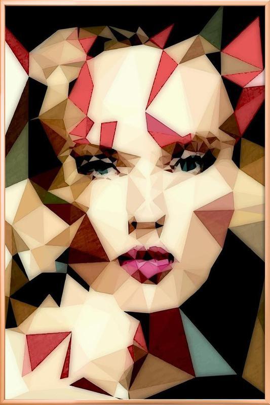 Bohemian Girl Poster im Alurahmen