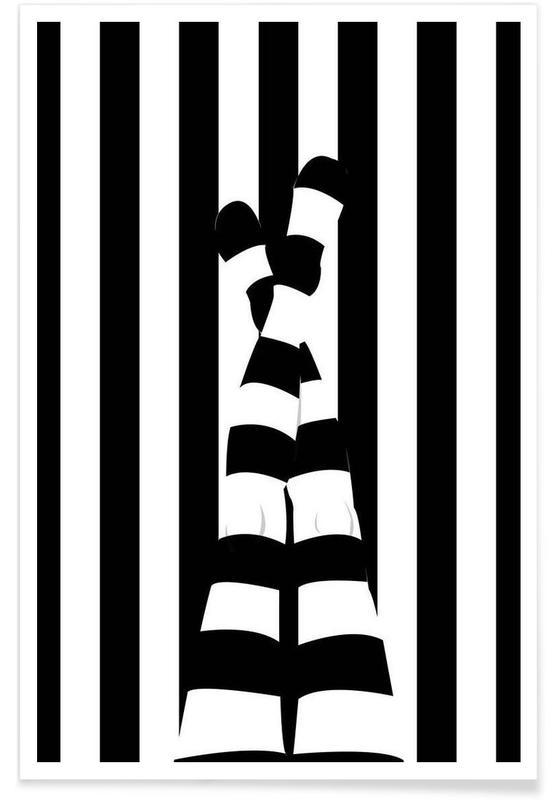 Striping legs Poster