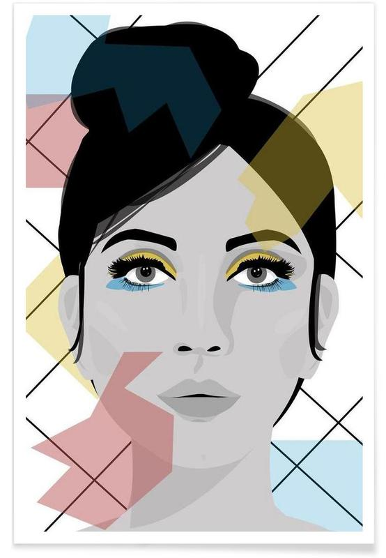 Colour on my face poster
