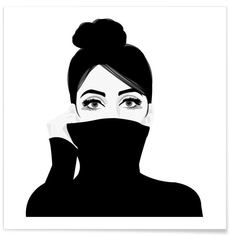 Girl in turtleneck -Poster