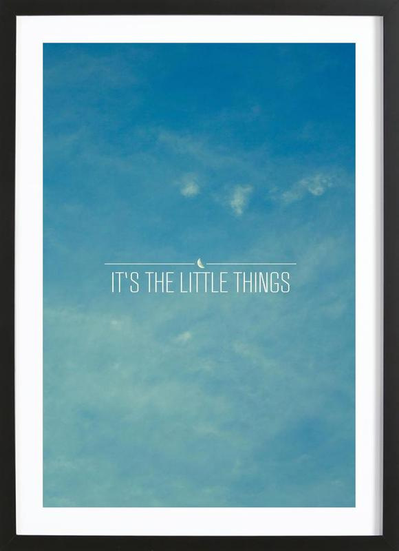 Little Things -Bild mit Holzrahmen