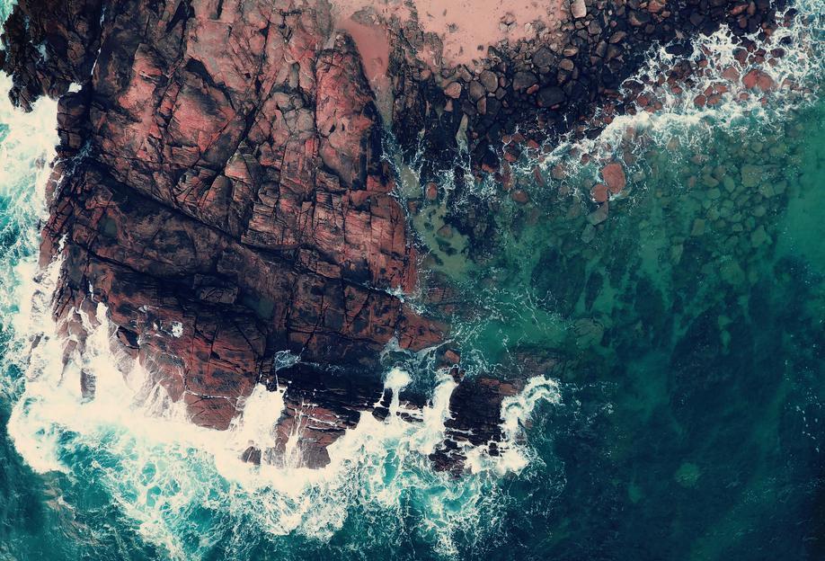Emerald Green Sea Acrylglasbild | Dekoration > Bilder und Rahmen > Bilder | Mehrfarbig | Aluminium