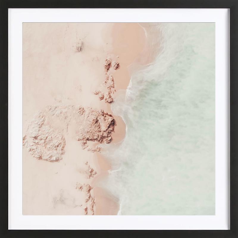 Ocean Mint Champagne -Bild mit Holzrahmen