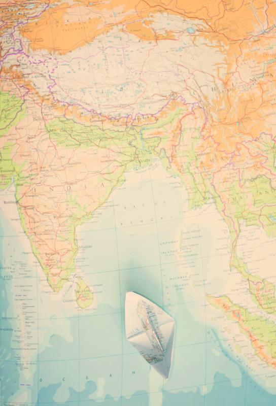 map india Acrylglasbild | Dekoration > Bilder und Rahmen > Bilder | Mehrfarbig | Aluminium