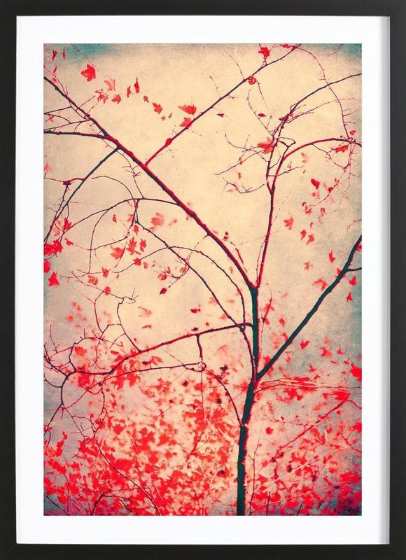 Red October -Bild mit Holzrahmen
