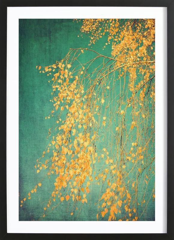 Whispers of Yellow -Bild mit Holzrahmen