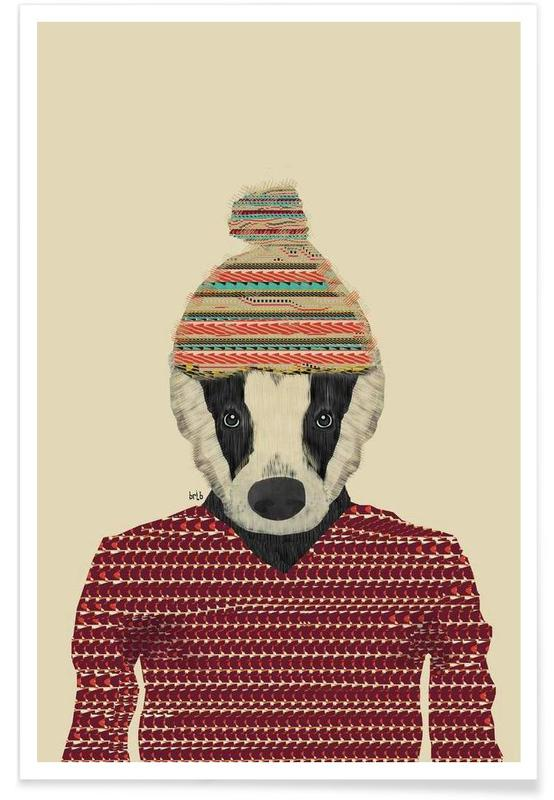 seb the badger Poster