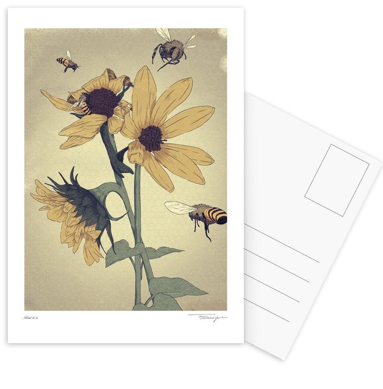 Bees Postcard Set