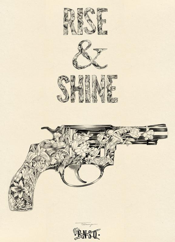 Rise And Shine Leinwandbild | Dekoration > Bilder und Rahmen > Bilder | Mehrfarbig | Holz