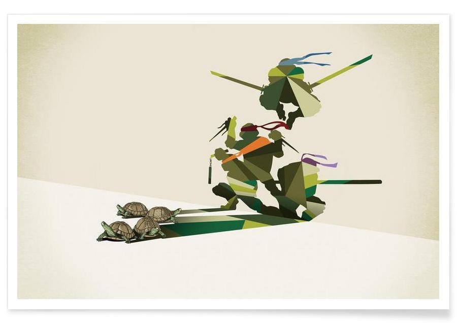Walking Shadow - Turtles -Poster