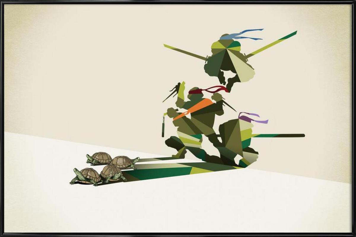 Walking Shadow - Turtles affiche encadrée