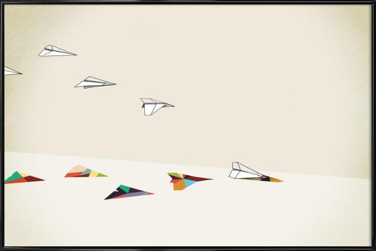 Walking Shadow - Paper Planes ingelijste poster