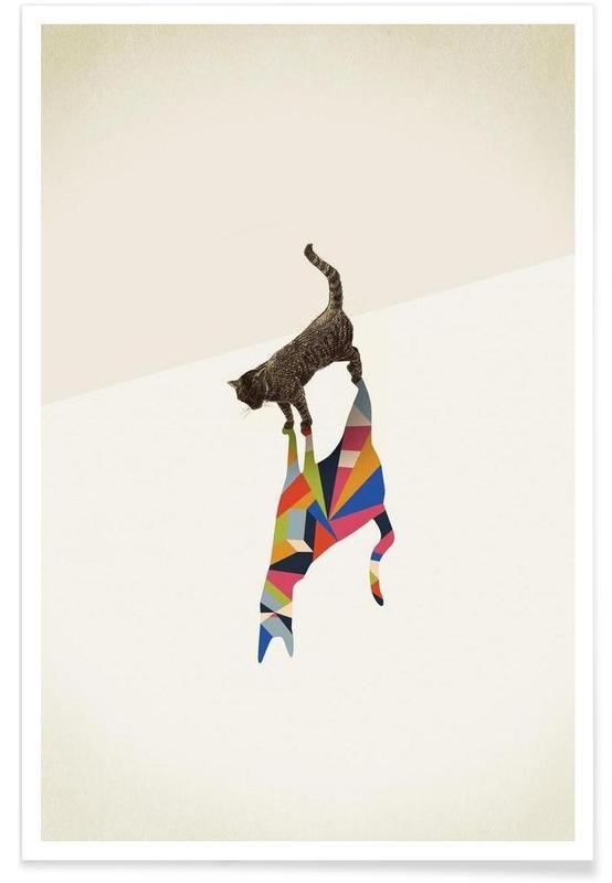 Walking Shadow - Cat Poster