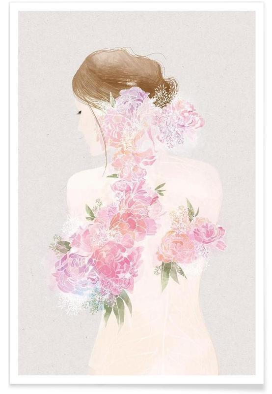 La Fille Fleur Poster