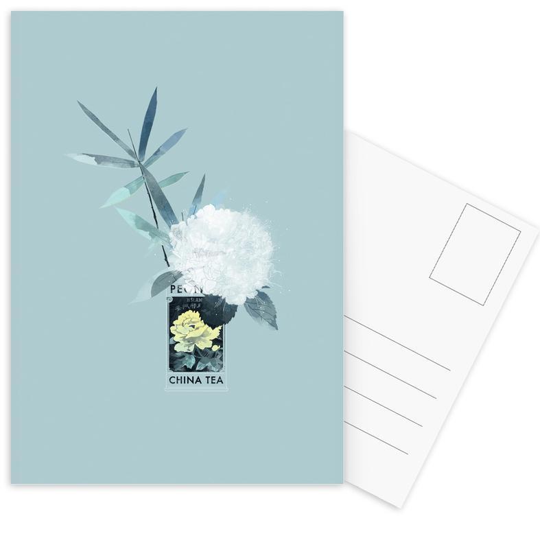Peony China Tea Postcard Set