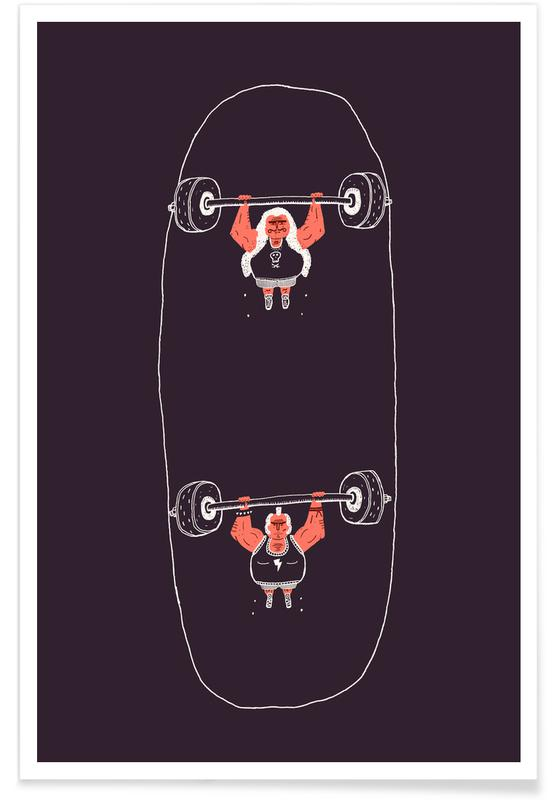 Heavyweight Skateboarding -Poster