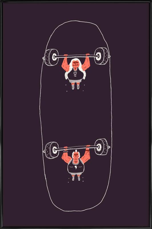 Heavyweight Skateboarding -Bild mit Kunststoffrahmen