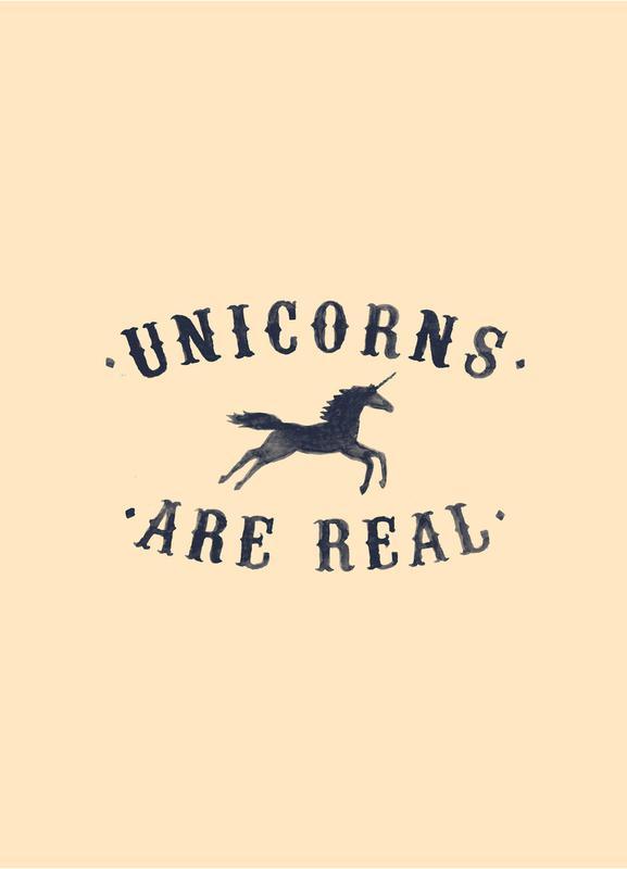 Unicorns Are Real I Canvas Print