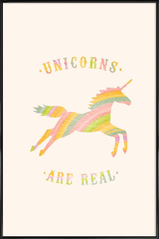 Unicorns Are Real II Framed Poster
