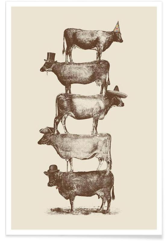 Cow Cow Nuts Poster