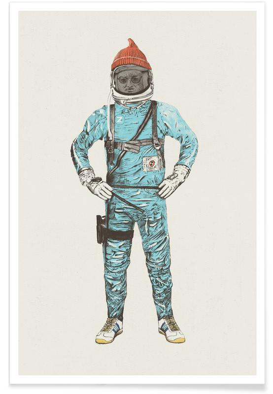 Zissou in Space -Poster