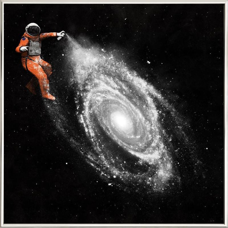 Space Art -Poster im Alurahmen