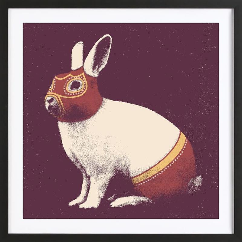 Lapin Catcheur (Rabbit Wrestler) Framed Print