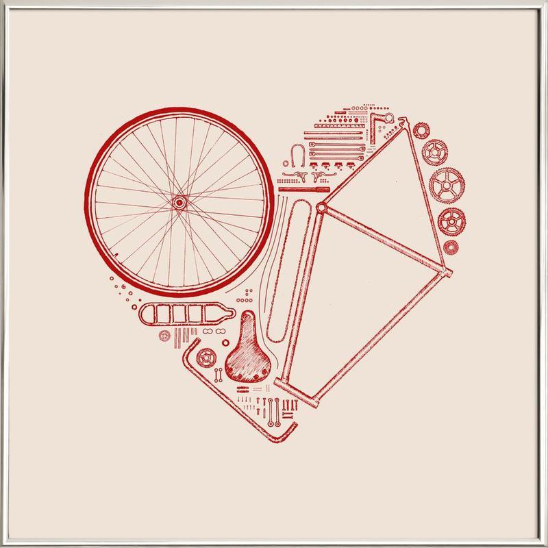 Love Bike 2 Poster in Aluminium Frame