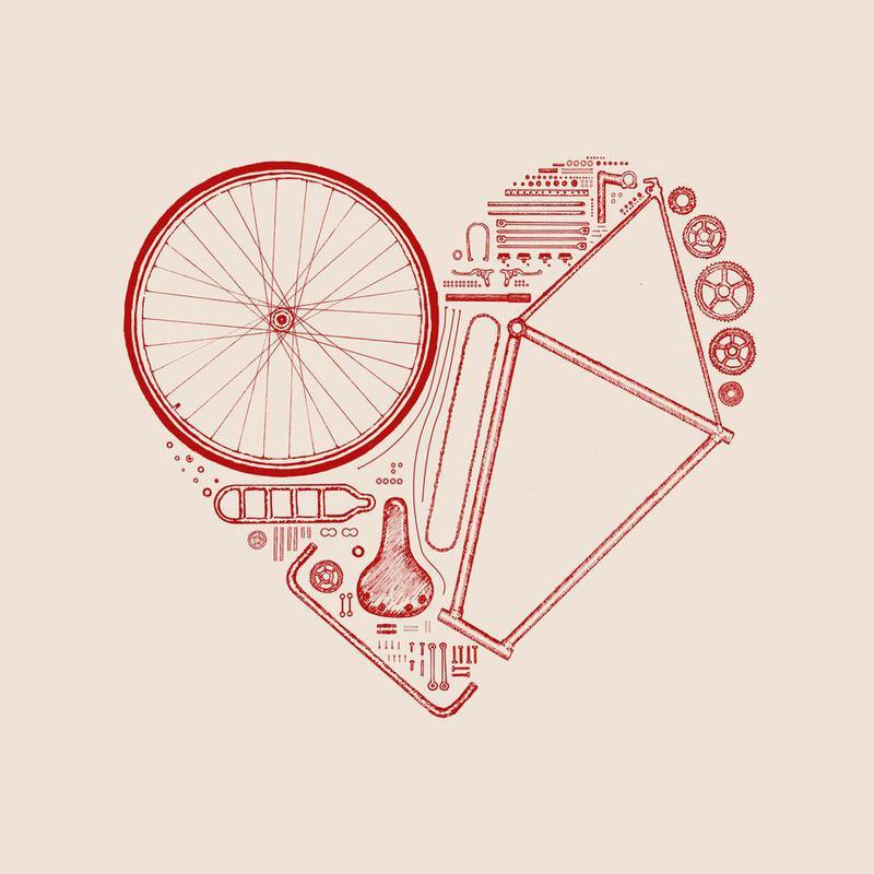 Love Bike 2 Acrylic Print